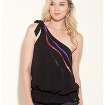 Guess Luisa One Shoulder Top Shirt Blouse  Photo