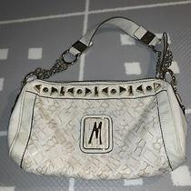 Guess Marciano Leather White Bag Handbag Satchel Purse Authentic Photo