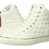 Guess Men High Top Sneakers Melo White Faux Leather Us Size 10 M Photo