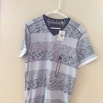 Guess Men's Anthony Stripe v-Neck (Medium) Photo