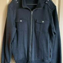 Guess Men's Black Soft Shell Zip Up Long Sleeve Jacket Size Large Photo