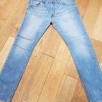 Guess Men's Blue Klayton Tapered  Lesson Denim Pant Size 36 Photo
