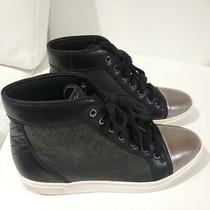 Guess Men's Boden Dark Black Gold-Toe High Top Sneakers Shoe Ankle Boots Sz 10.5 Photo