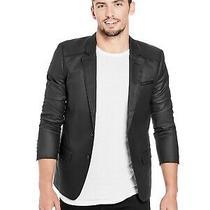Guess Mens Dominique Black Coated Blazer Size M Photo