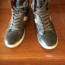 Guess Men's Lace Up Hightop Brown Shoes Size10m Mgjayson Style Casual Sneakers Photo