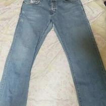 Guess Men's Light Blue Straight Leg Jeans Size 38 Photo
