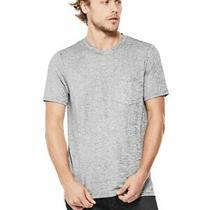 Guess Men's Metallic Stepped-Hem Tee Shirt Size M Zr-B1 Photo