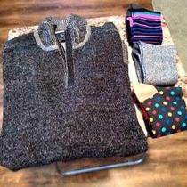 Guess Men's Zip Mock Neck Sweater - Sz Xl W/socks Photo