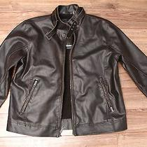 Guess Mens Bison Jacket Faux Leather Xxl Winter Faux Fur Insulated 135 Photo