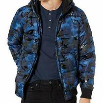 Guess Mens Hooded Camo Print Puffer Jacket - Choose Sz/color Photo