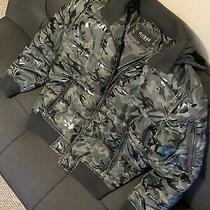 Guess Mens Hooded  Camo Puffer Full-Zip Winter Jacket/coat Size L Nwt Photo