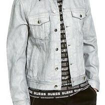 Guess Mens Jacket Gray Size Medium M Denim Classic Slim Fit Logo 148 288 Photo