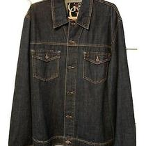 Guess Mens Jean Jacket Size 2xl Two Breast Pockets Black Label Design Vintage Photo