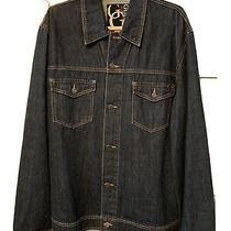 Guess Mens Jean Jacket Size 2xl Two Breast Pockets Black Label Design Vintage Photo