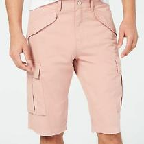 Guess Mens Shorts Satin Rose Pink Size 38 Cargo Summery Stretch Solid 79 028 Photo