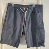 Guess Mens Size 33 Hunter Cargo Shorts Tie Waist Gray  Photo
