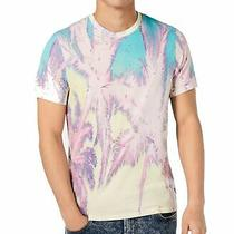 Guess Mens T-Shirt Pink Size Medium M Graphic Tee Palm Tree Printed 39 195 Photo
