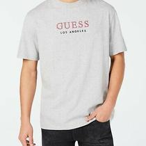 Guess Mens T-Shirts Gray Size Medium M Embroidered Logo Graphic Tee 44 143 Photo
