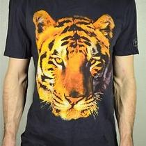 Guess Mens Tee Shirt Color Black Tiger Tape Size M Photo
