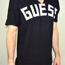 Guess Mens Tee Shirt Color Black /white Guess Tape  Size Large Photo