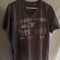 Guess Mens Tee Shirt Dark Gray Color 1981 Guess Tape Size L Photo