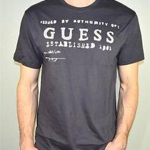 Guess Mens Tee Shirt Dark Gray Color 1981 Guess Tape Size M Photo
