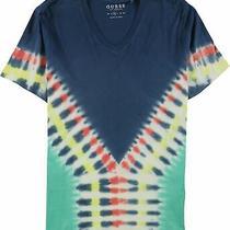Guess Mens Tie-Dye Basic T-Shirt Multicoloured Medium Photo