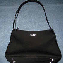 Guess Microfiber Black Satchel Purse/bag in a Cond