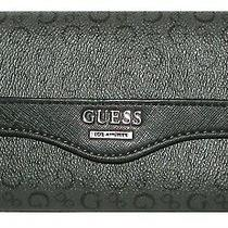 Guess Monogram Coal Flap Trifold Clutch Wallet Nwt Photo