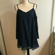 Guess Navy Blue Cold Shoulder Tunic Dress Small Photo