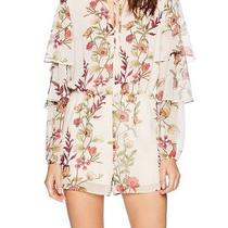 Guess New Beige Women's Size Large L Pixie Floral Print Tiered Romper 98 527 Photo