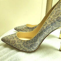 Guess New Glitter Gold Gray Prom Formal Stiletto Heels Shoes Size 9 M Photo
