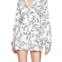 Guess New White Women's Size Small S Floral Choker v-Neck Romper 98 526 Photo
