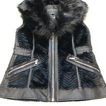 Guess Nwt  Jayden Faux-Fur Zip-Front Vest a 118 Msrp Photo