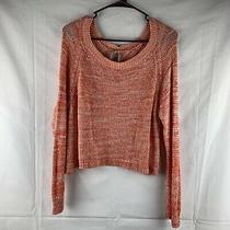Guess Orange Open Back Reversible Sweater Size M Photo
