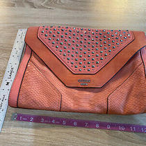 Guess Peach Colored Clutch Purse New Without Tags Photo