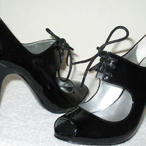 Guess Peep Toe Pumps--Patent Leather--Black--us/5.5 Photo