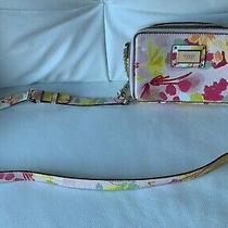 Guess Pink and Yellow Floral Purse/handbag (Brand New) Photo