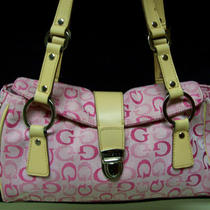 Guess Pink Handbag Purse Tote Shoulder Bag Photo