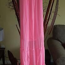 Guess Pink Long Summer Sleeveles Summer Dress  Photo