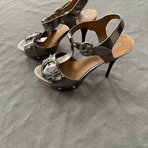 Guess Platform Heels Style Fume. Silver. Size 8 Photo