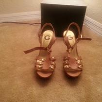 Guess Platform Sandals / Sz 8 Us / Nude Photo