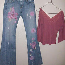 Guess Premium Cute Jeans & Forever Top Size 26 Cute Outfit Photo