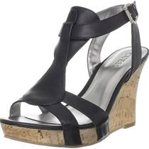 Guess Priela Black Wedges Sandel Womens Shoe Size 9.5 M Photo