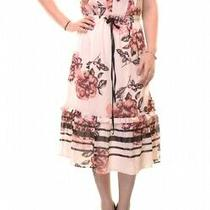 Guess Printed Floral Ruffled a-Line Dress Nwd Size S Photo