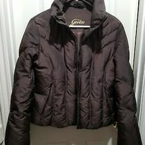 Guess Puffer Jacket Faux Fur Removable Hood Youth Medium  Photo