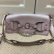 Guess Purse Light Purple Lilac Snakeskin Great Condition Photo