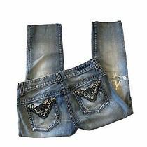 Guess Raw Hem Cut Capri Jeans Blue Size 30 Photo