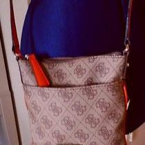 Guess Reama Mini Orange Light Brown Tan Small Bag Handbag Crossbody Purse Photo