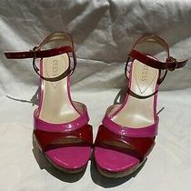 Guess Red and Pink Wedge Shoe 8.5 Photo